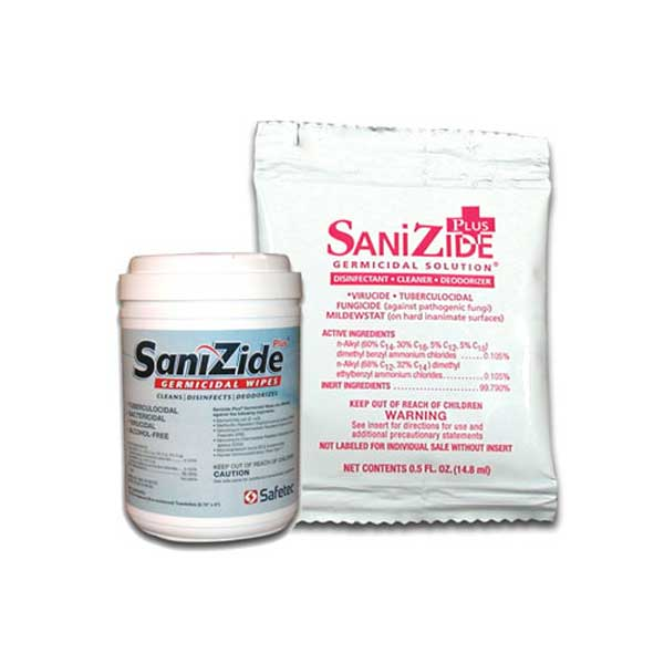 SaniZide Plus Germicidal Wipe