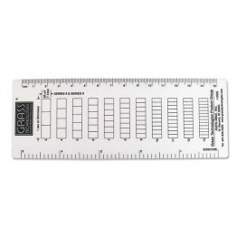 Grass Recording Aid, Frequency Ruler